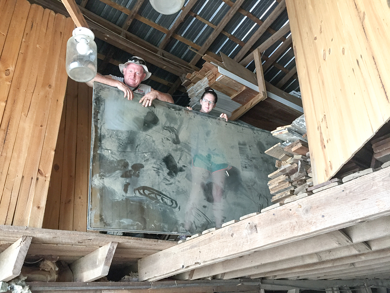 getting window out of barn loft